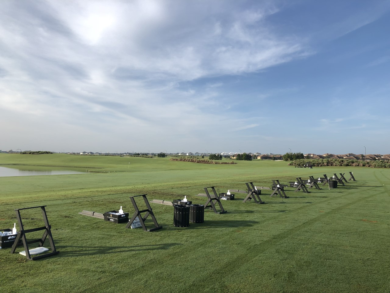 Champions Gate Country Club Practice Facility Bag Stands